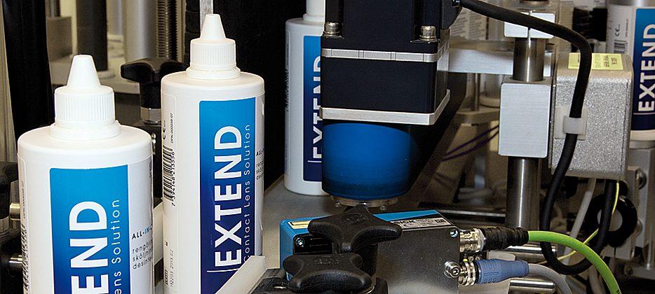 Etikettering Extend flaskor
